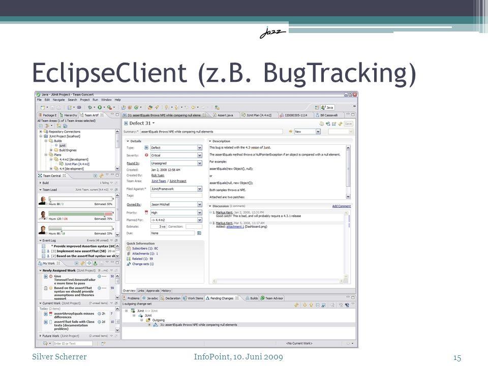 EclipseClient (z.B. BugTracking) 15 Silver Scherrer InfoPoint, 10. Juni 2009