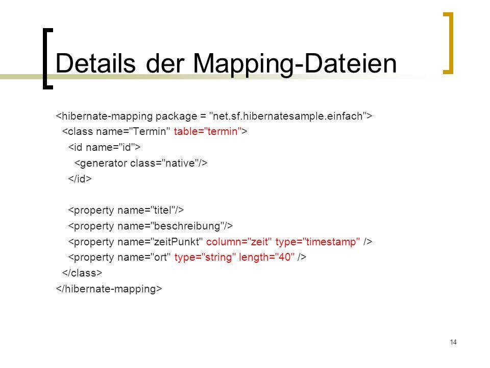 14 Details der Mapping-Dateien