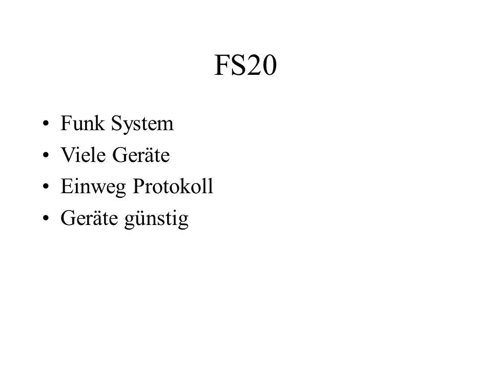 FS20 Funk System Viele Geräte Einweg Protokoll Geräte günstig