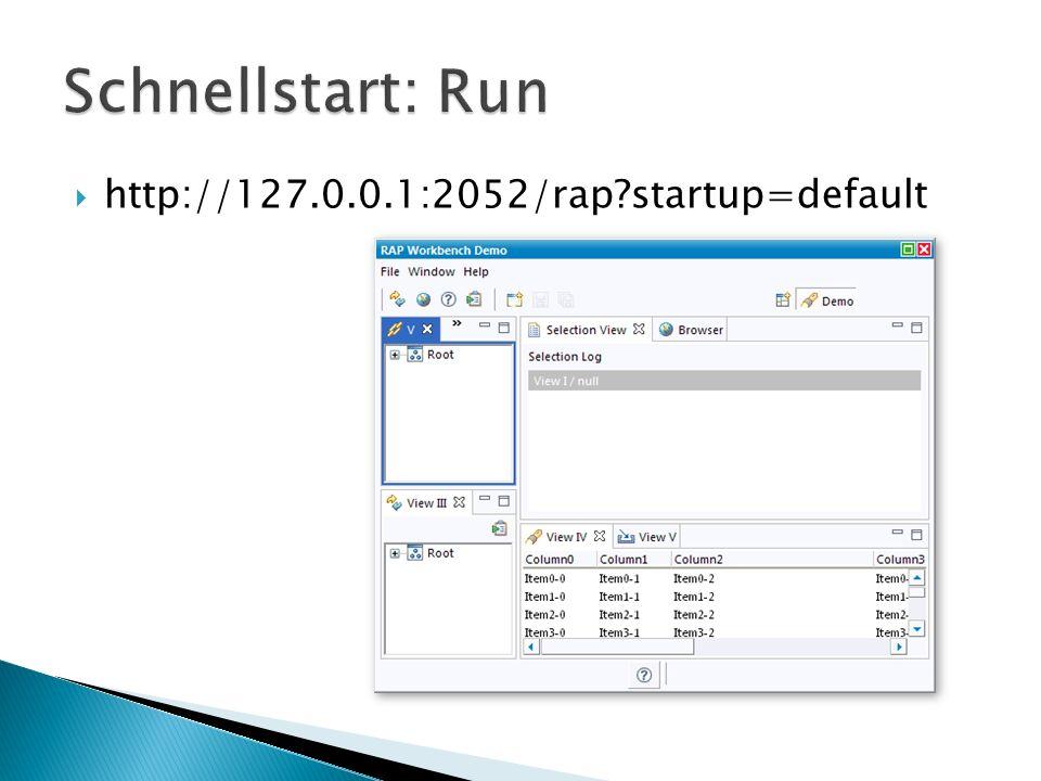 RCP-Code ausgeführt in Servlet-Container Plugins für SWT, JFace und Workbench ersetzt durch RAP-Äquivalente
