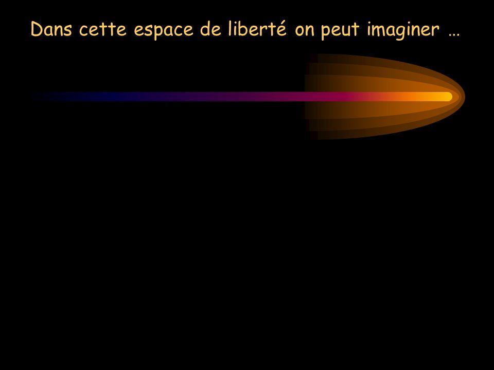 Dans cette espace de liberté on peut imaginer …