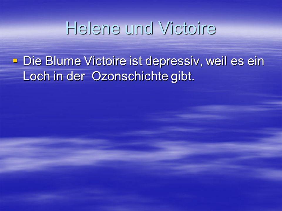 Helene und Victoire Die Blume Victoire ist depressiv, weil es ein Loch in der Ozonschichte gibt.