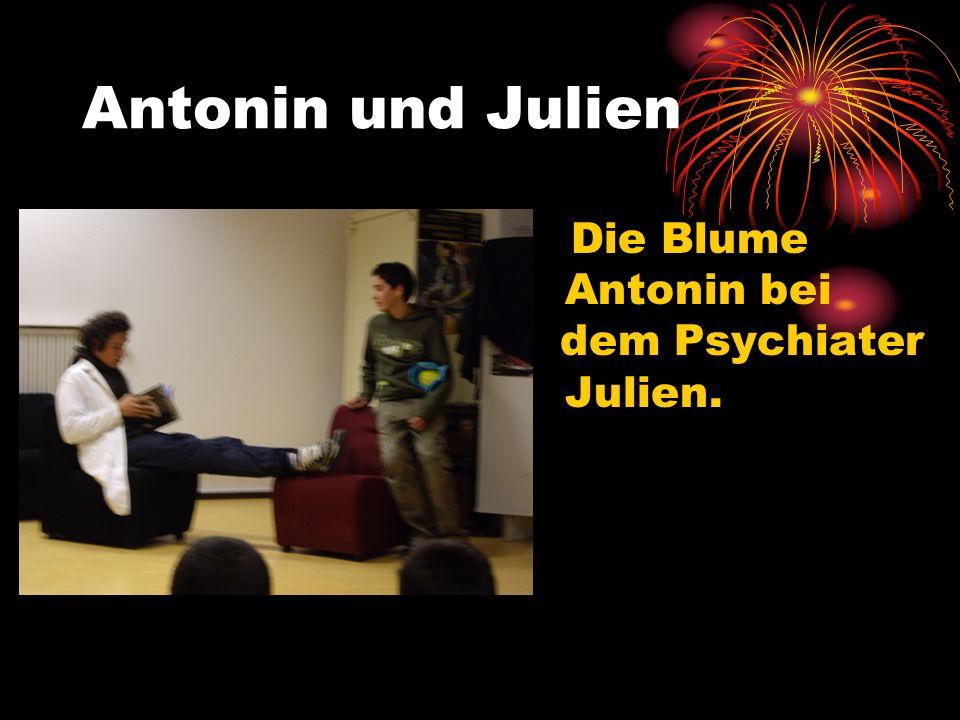 Antonin und Julien Die Blume Antonin ist depressiv, weil es dieVerschmutzung gibt.