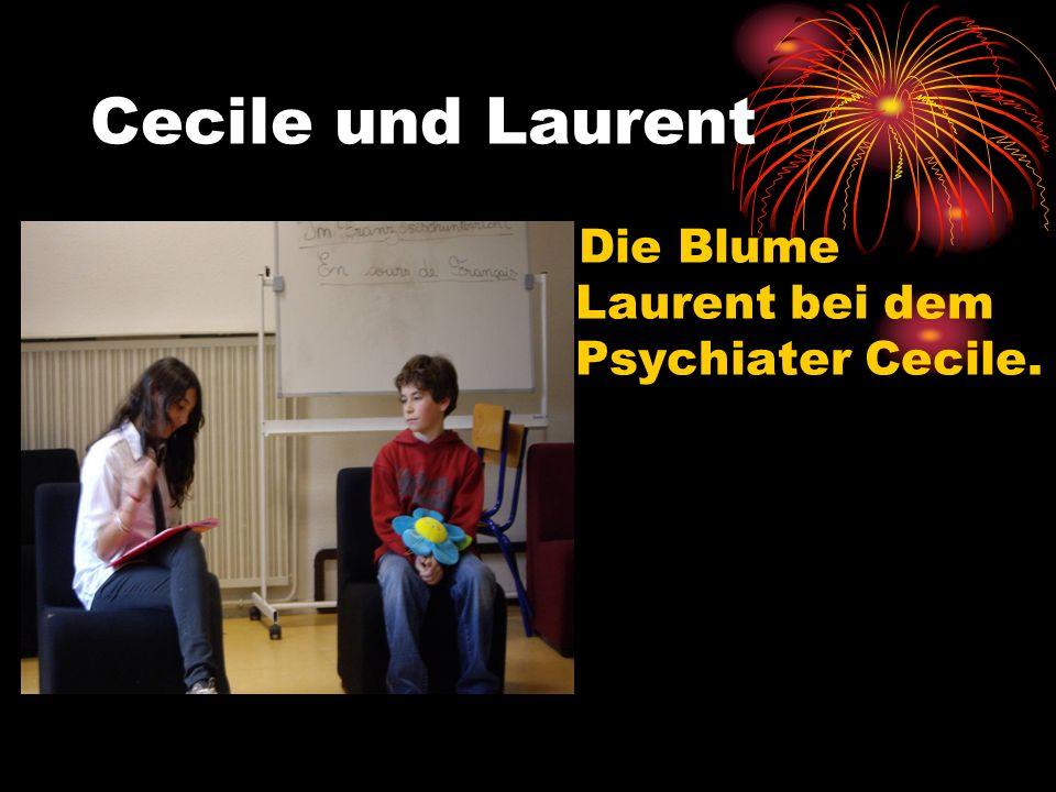 Cecile und Laurent Die Blume Laurent bei dem Psychiater Cecile.