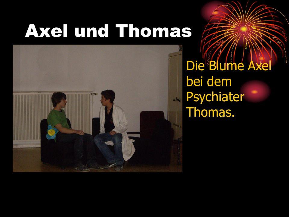 Axel und Thomas Die Blume Axel ist depressiv, weil sie allein ist.