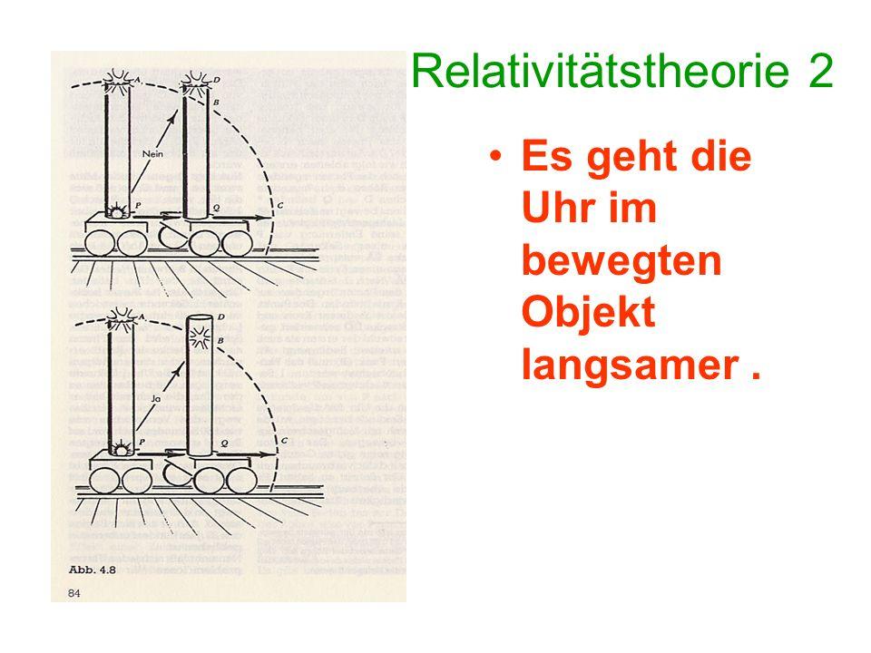 Relativitätstheorie 3 Impuls = Masse x Geschwindigkeit Wenn ich mich als Beobachter mit hoher Geschwindigkeit vorbei bewege, während das Auto in die Mauer fährt, so sehe ich wegen des Relativitätseffektes das Auto in Zeitlupe.