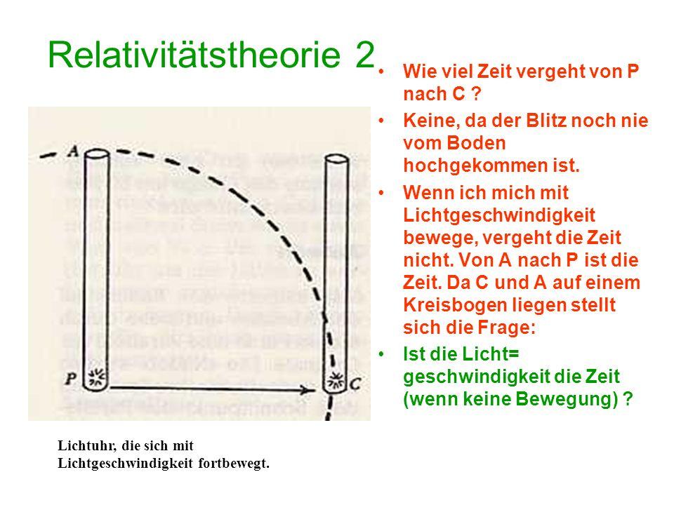 Relativitätstheorie 3 Eigentlich ist zu beachten: Impuls = Masse x Geschwindigkeits(zuwachs) (-verringerung) Geschwindigkeitszuwachs nennt man Beschleunigung.