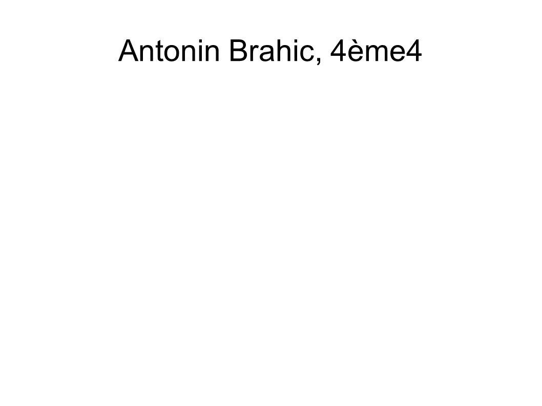 Antonin Brahic, 4ème4