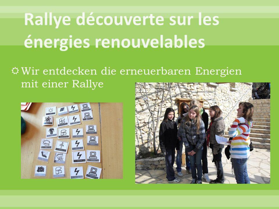 Wir entdecken die erneuerbaren Energien mit einer Rallye