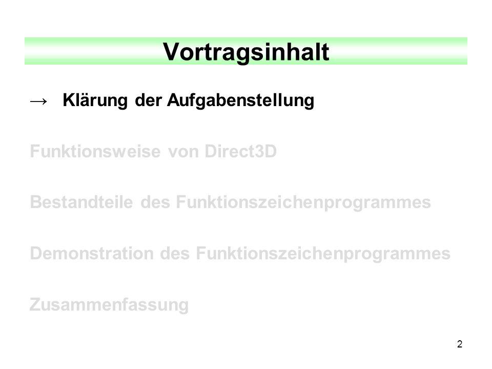 3 Klärung der Aufgabenstellung 1.Welche Art von Funktionszeichenprogramm ist zu erstellen.