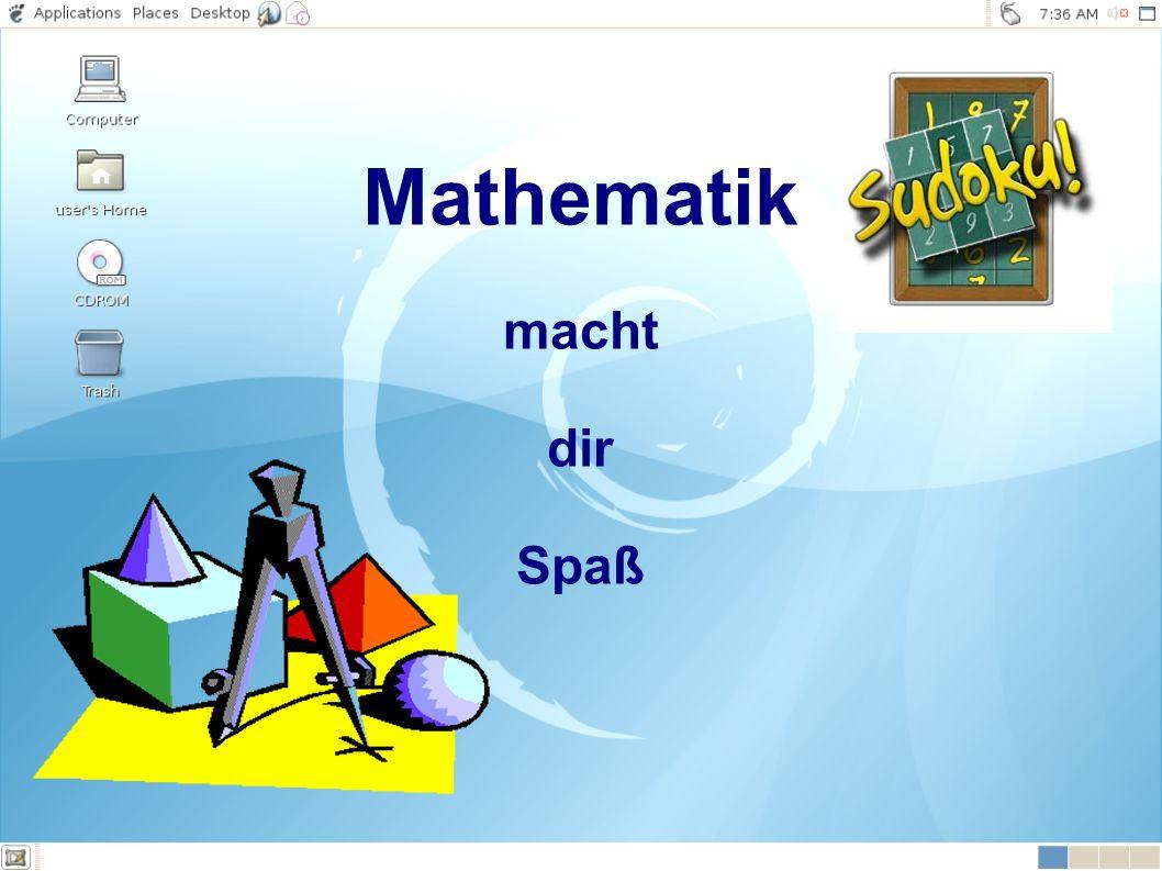 Mathematik macht dir Spaß