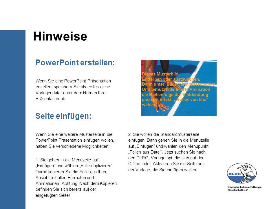 PowerPoint erstellen: Wenn Sie eine PowerPoint Präsentation erstellen, speichern Sie als erstes diese Vorlagendatei unter dem Namen Ihrer Präsentation ab.