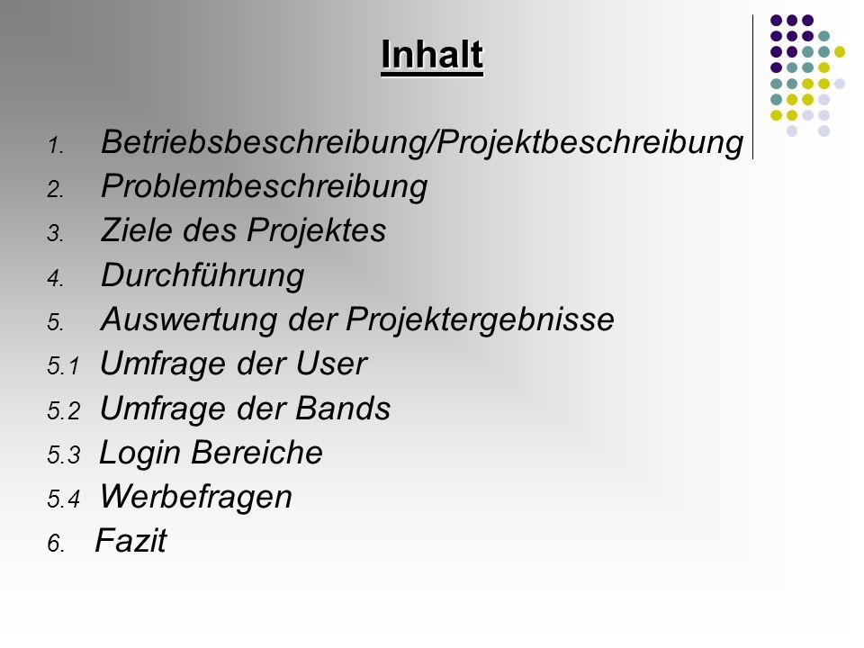 5.2 Ergebnisse Umfrage der Bands