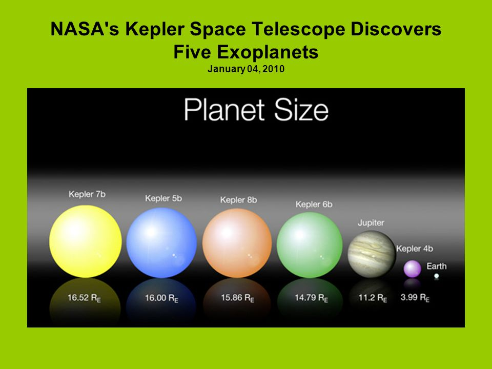 NASA's Kepler Space Telescope Discovers Five Exoplanets January 04, 2010