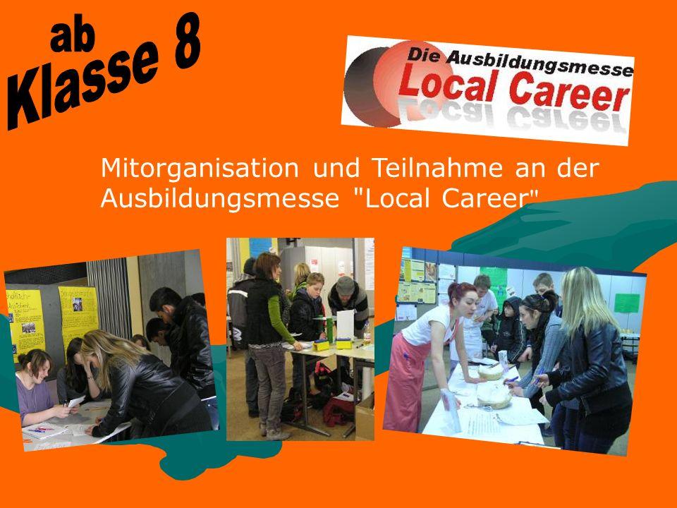 Mitorganisation und Teilnahme an der Ausbildungsmesse