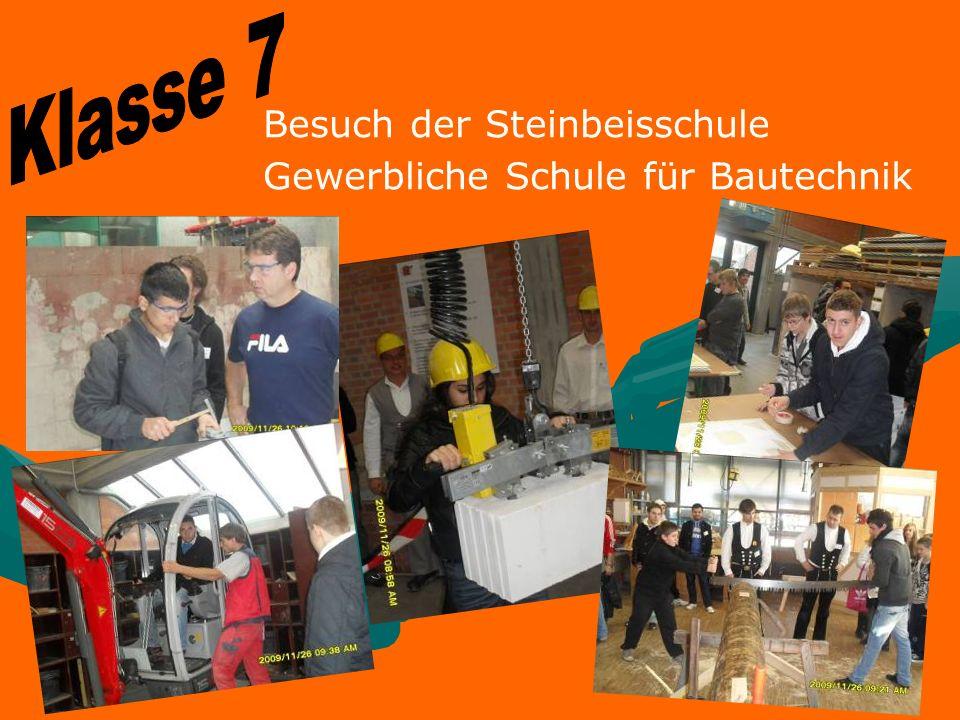 Besuch der Steinbeisschule Gewerbliche Schule für Bautechnik