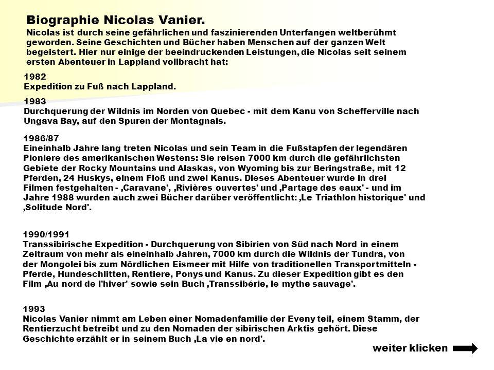 Biographie Nicolas Vanier.