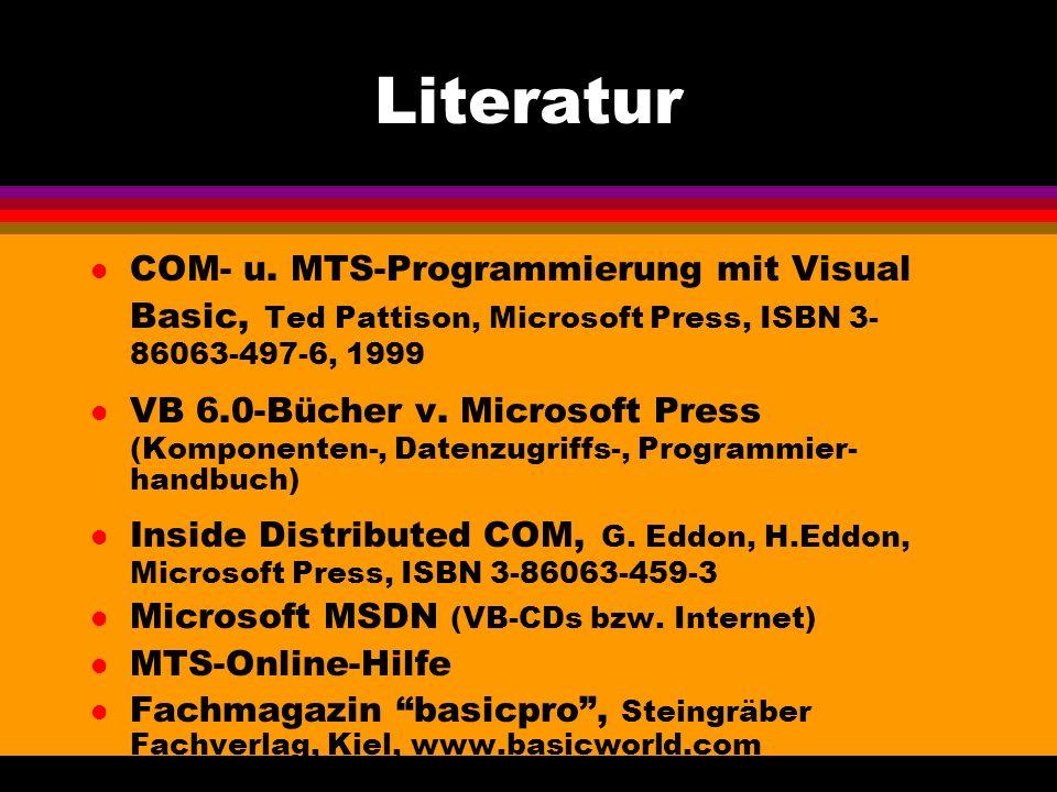 Literatur l COM- u.