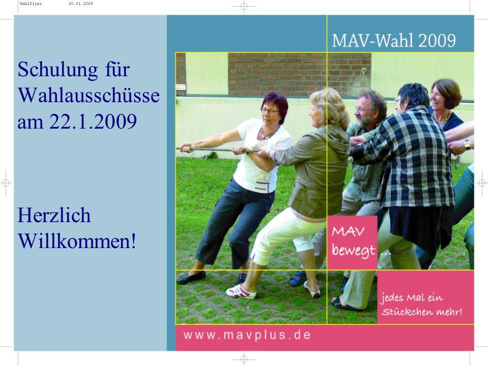 Wahlregeln Größe der MAV = Anzahl der max.