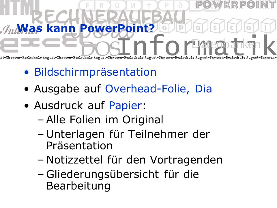 Was kann Power-Point. Text anzeigen Ich bin ein Text.