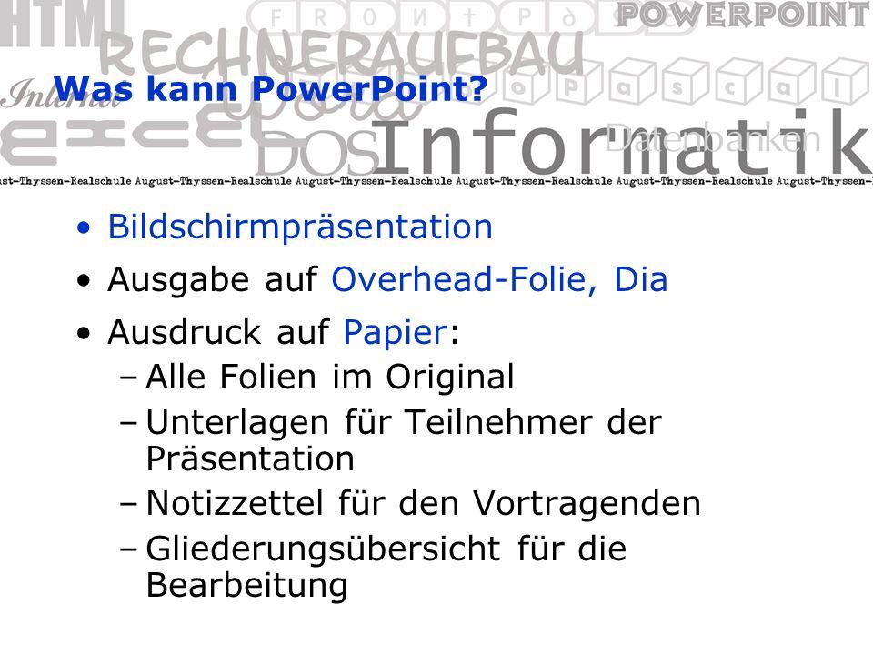 Was kann PowerPoint.