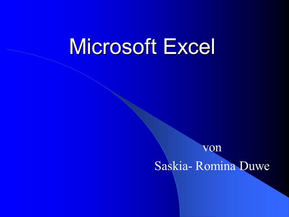 Microsoft Excel von Saskia- Romina Duwe