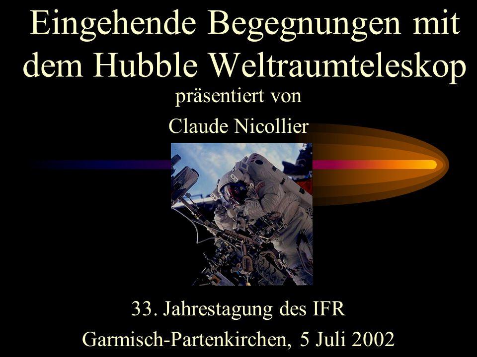 Besuch des Vortrages: Hubble Weltraumteleskop von Claude Nicollier Da schon Ferien waren und fast alle Schüler wegen Ferienpläne der Eltern absagen mu