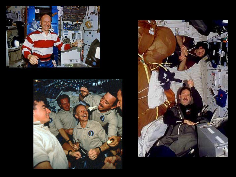 Goldene Regeln für EVAs Stabilisierung Während der Nacht nicht schlafen! Alles unternehmen, um nichts zu verlieren, inklusive Astronauten, weil sie ab