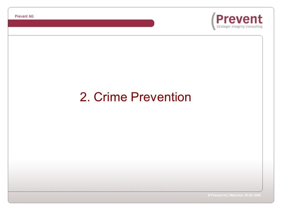 © Prevent AG, München, 30.09. 2006 Prevent AG 2. Crime Prevention