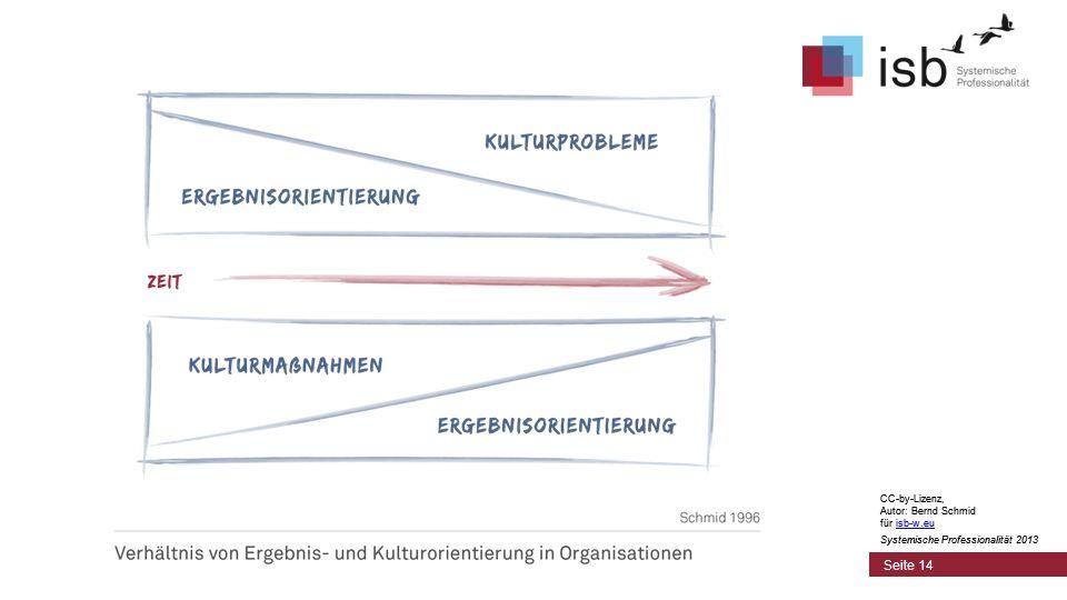 CC-by-Lizenz, Autor: Bernd Schmid für isb-w.euisb-w.eu Systemische Professionalität 2013 Seite 14 CC-by-Lizenz, Autor: Bernd Schmid für isb-w.euisb-w.eu Systemische Professionalität 2013