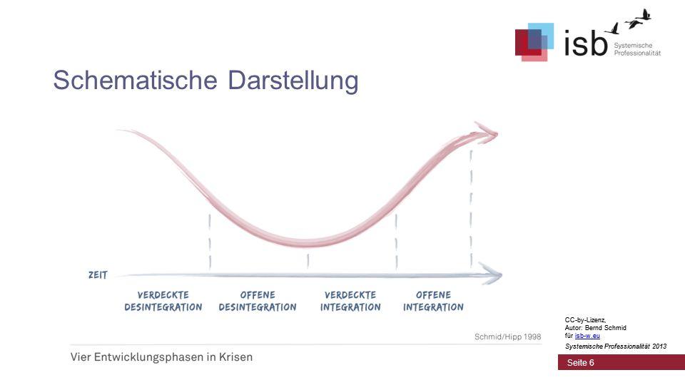CC-by-Lizenz, Autor: Bernd Schmid für isb-w.euisb-w.eu Systemische Professionalität 2013 Seite 6 Schematische Darstellung CC-by-Lizenz, Autor: Bernd S