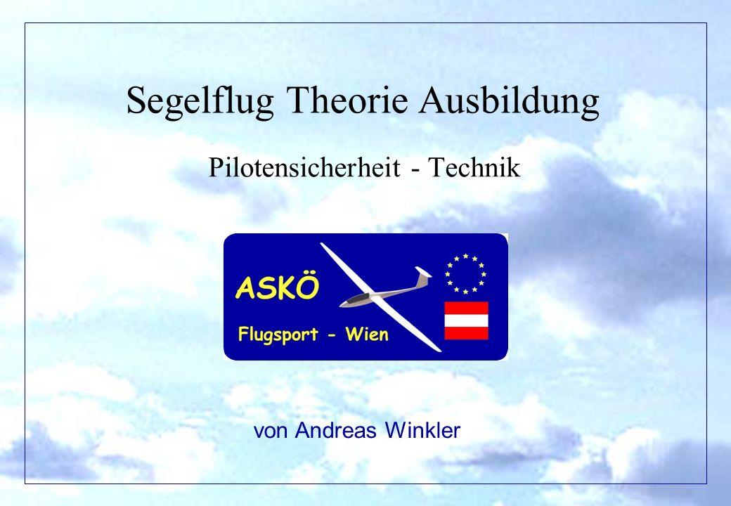 Segelflug Theorie Ausbildung Pilotensicherheit - Technik von Andreas Winkler