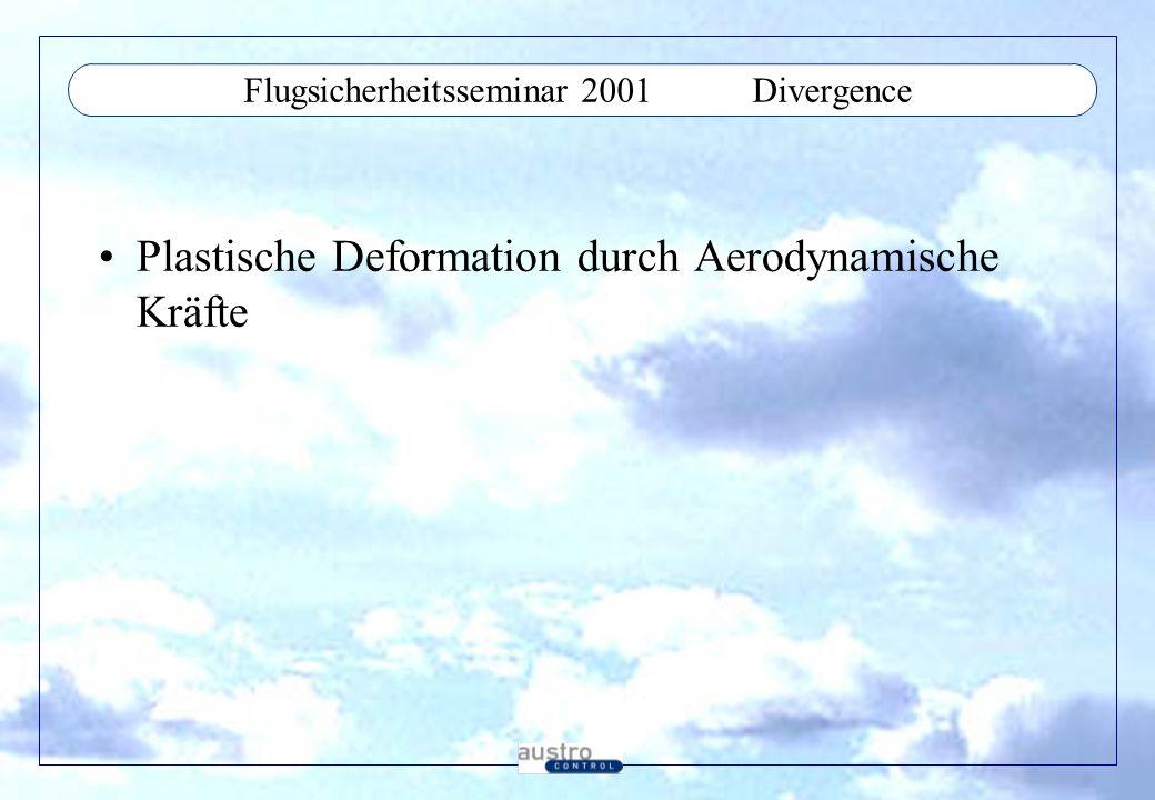 Flugsicherheitsseminar 2001Control Surface Reversal Ruderumkehr durch elastische Verformung, zu geringe Steifigkeit