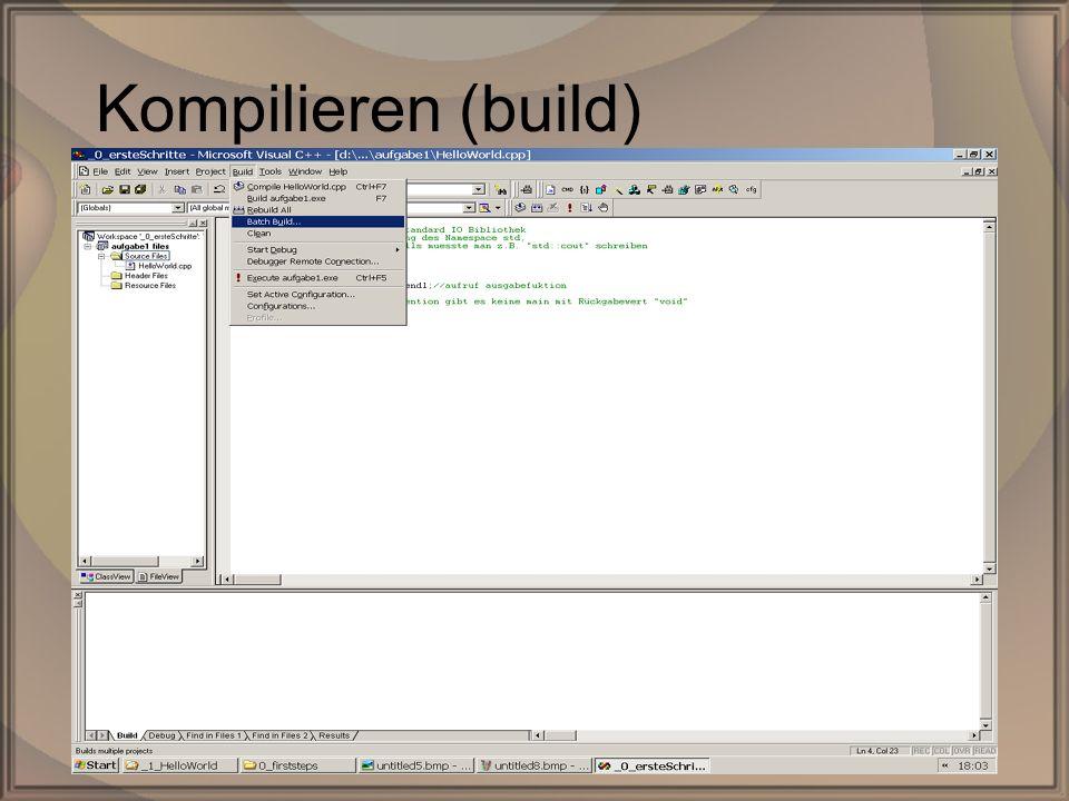 Rep. PG1 – Kap. 0: Erste SchritteDipl. Inf. (FH) Michael Krauß11/22 Kompilieren (build)