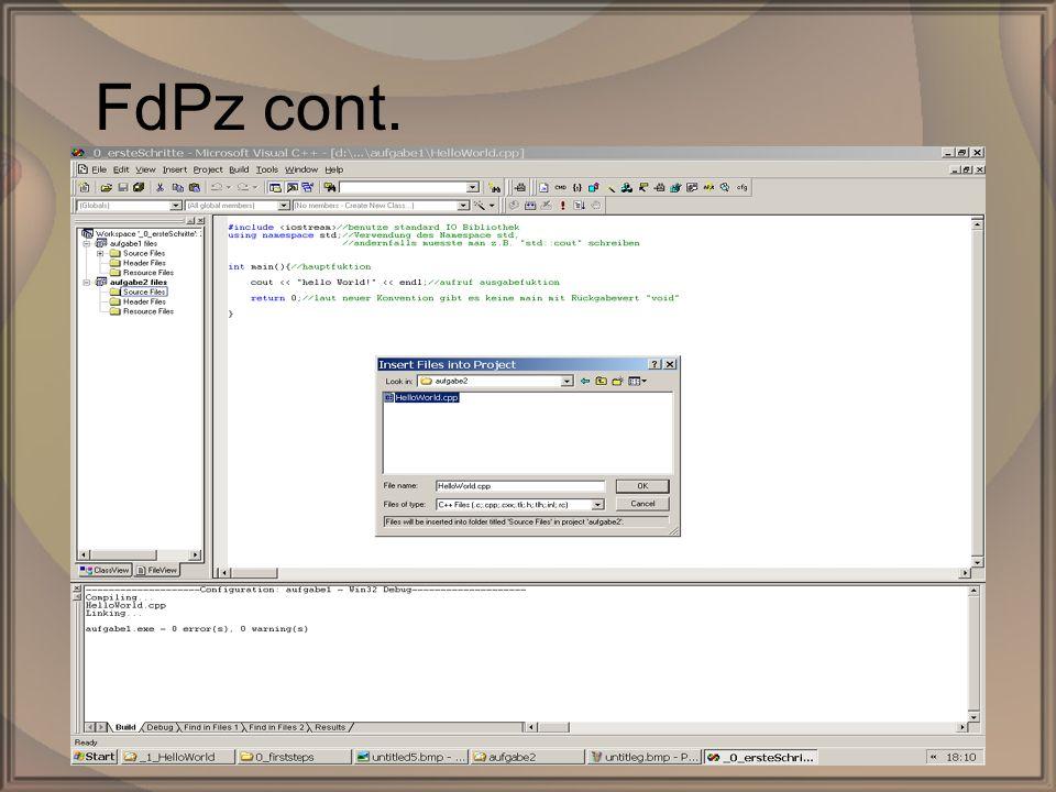 Rep. PG1 – Kap. 0: Erste SchritteDipl. Inf. (FH) Michael Krauß20/22 FdPz cont.