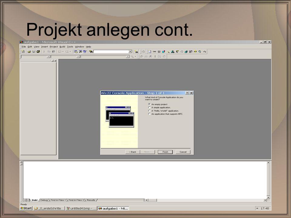 Rep. PG1 – Kap. 0: Erste SchritteDipl. Inf. (FH) Michael Krauß8/22 Projekt anlegen cont.