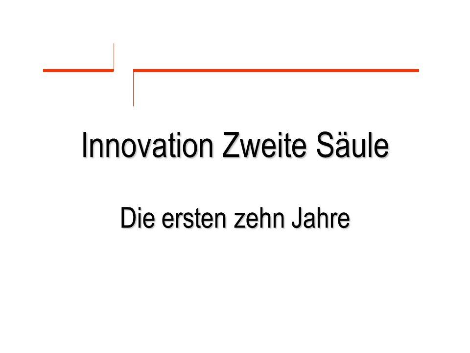 Innovation Zweite Säule Die ersten zehn Jahre