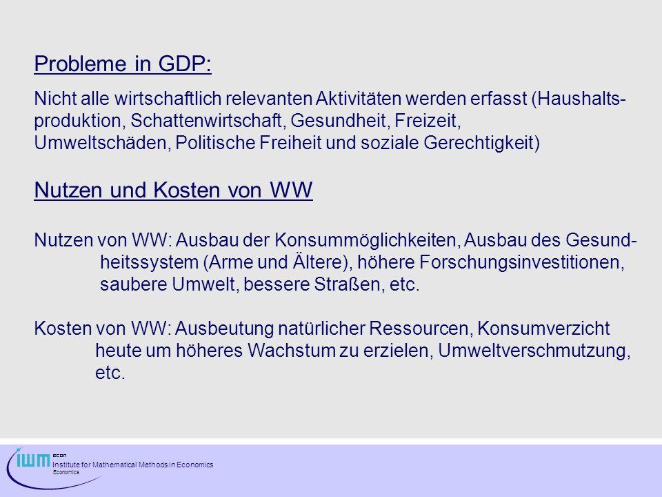 Institute for Mathematical Methods in Economics Economics Abbildung 1: Konjunkturschwankungen Österreich 1967-1995 (Quartalswerte)