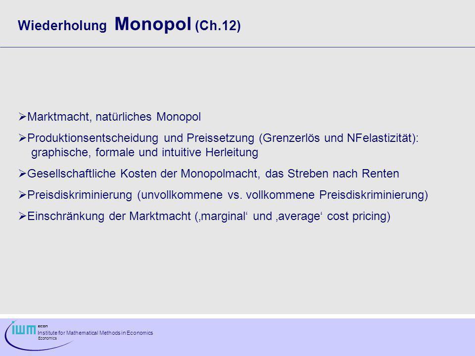 Institute for Mathematical Methods in Economics Economics Ad 2.