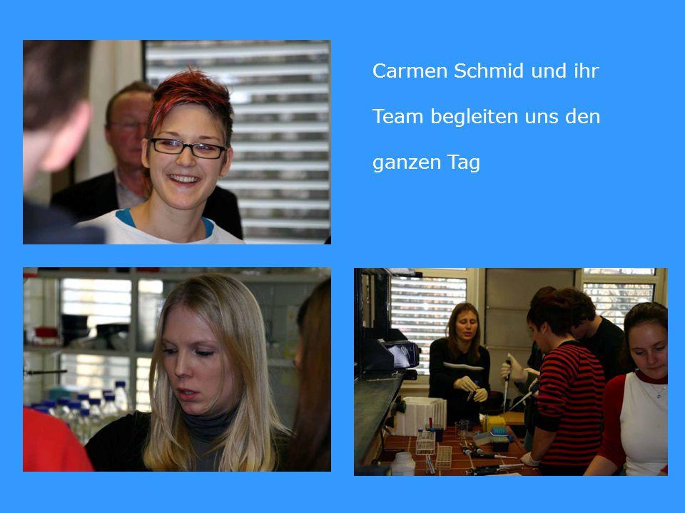 Carmen Schmid und ihr Team begleiten uns den ganzen Tag