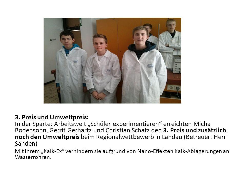 Einen Preis für den schönsten Stand bekamen: Tim Bormann, Paul Bergtholdt und Jan Bormann.