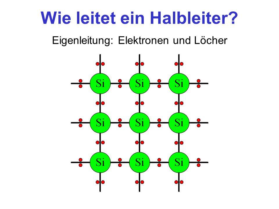 Wie leitet ein Halbleiter? Eigenleitung: Elektronen und Löcher