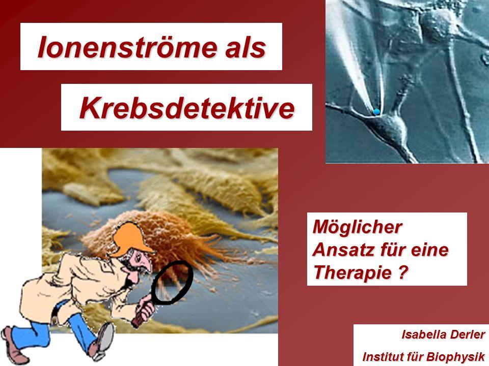 Ionenströme als Isabella Derler Institut für Biophysik Möglicher Ansatz für eine Therapie ? Krebsdetektive