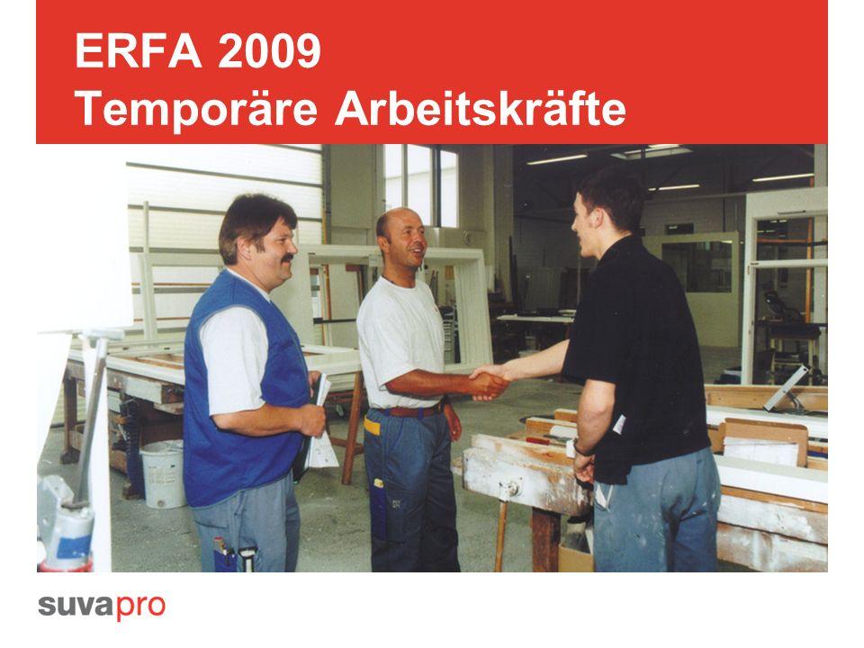 ERFA 2009 Temporäre Arbeitskräfte