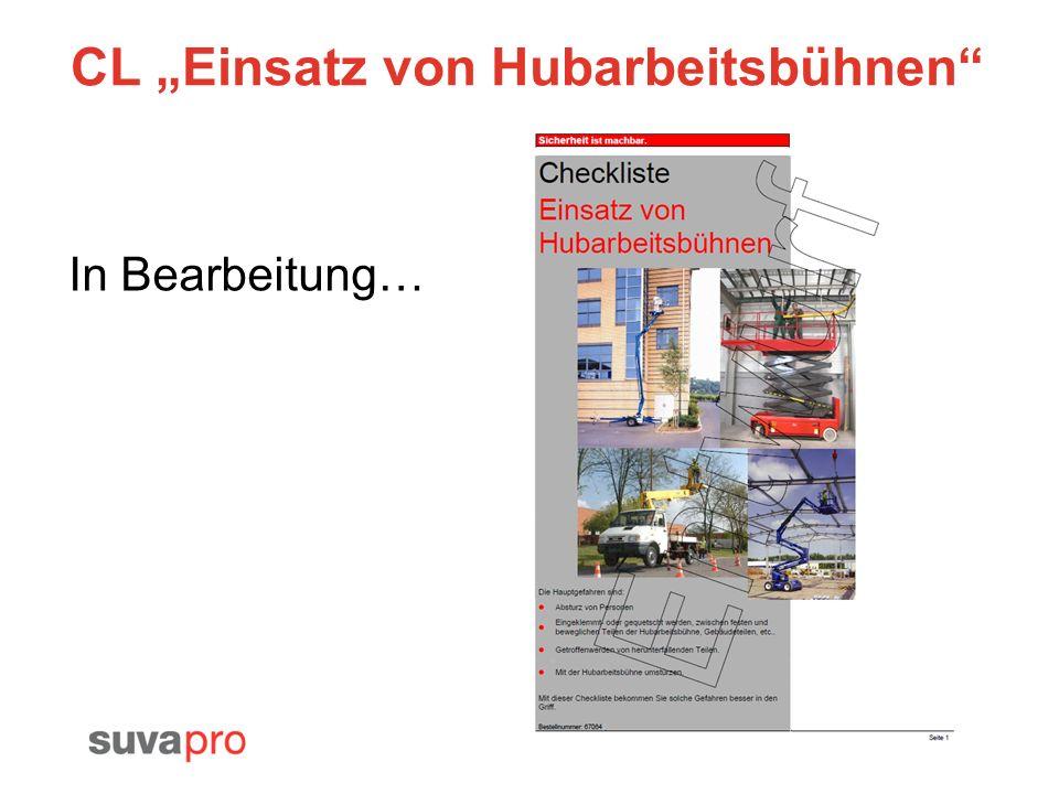 CL Einsatz von Hubarbeitsbühnen In Bearbeitung…