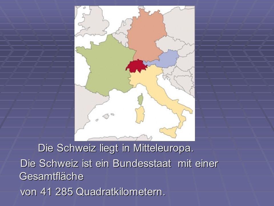 Die Schweiz grenzt im Norden an Deutschland, im Osten an Österreich und Liechtenstein, im Süden an Italien und Die Schweiz grenzt im Norden an Deutschland, im Osten an Österreich und Liechtenstein, im Süden an Italien und im Westen an Frankreich.