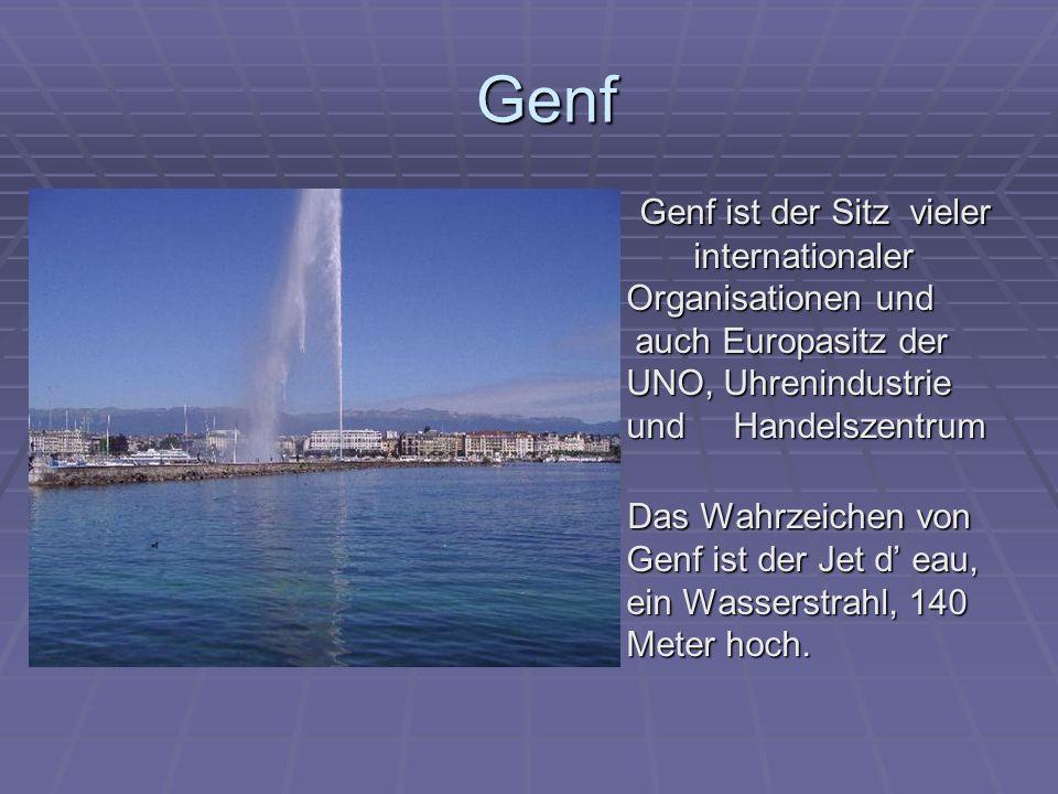 Die Schweiz ist ein Gebirgsland.Die Schweizer Alpen sind 2000 bis 3000 m hoch.