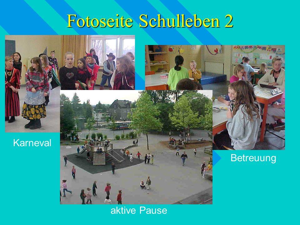 Fotoseite vom Schulleben 1 Kletteraktion Theaterbesuch PC - Kurs