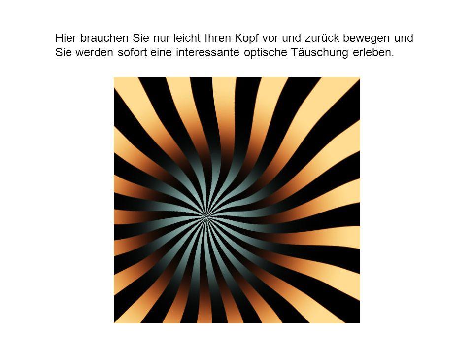 Ein interessantes Beispiel für ein Nachbildphänomen - Fokussieren Sie den Mittelpunkt des Bildes und Sie werden feststellen was mit Nachbildphänomen gemeint ist.