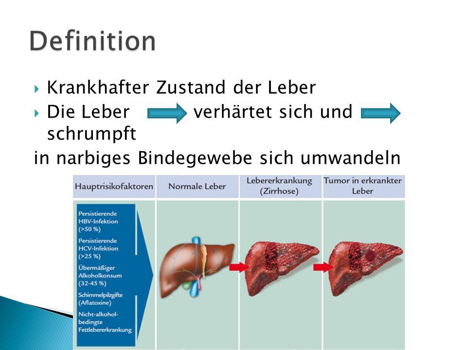 nicht-alkoholische Fettleber Vererbbare Stoffwechselerkrankungen alkoholbedingte Fettlebererkrankung Virushepatis